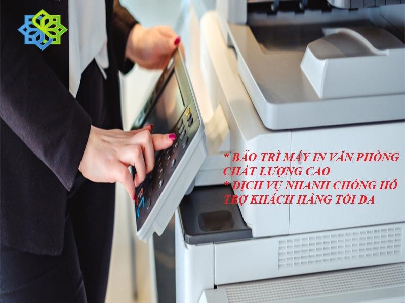sử dụng dịch vụ bảo trì máy in
